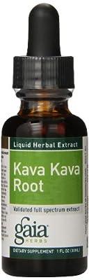 Gaia Herbs Kava Kava Root Supplement Bottle, 1 Ounce