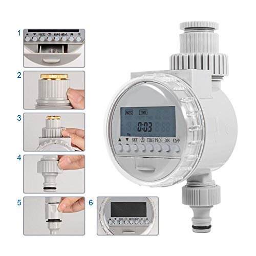 MIJIN Garden Watering Solar Water Timer Automatic Watering Irrigation Controllers System LCD Digital Irrigation Timer