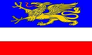 Hanseatic city of Rostock Flag   landscape flag   0.06m²   0.65sqft   20x30cm   8x12in for Diplomat-Flags Car Flag Poles