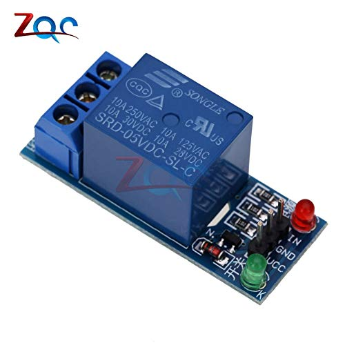 Electrical Equipments 1 Channel Relay Module Interface Board Shield For Arduino 5V Low Level Trigger One Pic Avr Dsp Arm Mcu Dc Ac 220V - (Size: S) ()