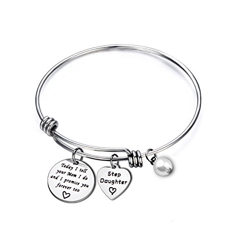 MYOSPARK Today I Tell Your DadMom I Do And I Promise You Forever Too Bracelet Stepdaughter Bracelet Blended Wedding Gift for Her (Mom Bracelet) by MYOSPARK