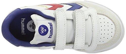 hummel STADIL JR. VELCRO LOW 63-675-2640 - Zapatillas de deporte de cuero para niños Blanco (White)