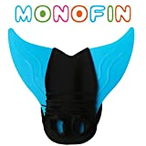 AMENON USA Flag Girls Swimsuits Mermaid Tails for Swimming Summer Bikini with Monofin (Monofin, Child Size Monofin)
