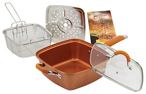 "Inventel SP-MC 2 SP-MC02 Square Copper Pan Pro, 9 1/2"","
