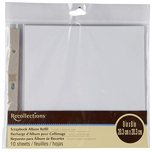Recollections Scrapbook Album Refill Pages (8 x 8) by Recollections