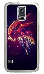Abstract plume Custom Samsung Galaxy S5/Samsung S5 Case Cover Polycarbonate Transparent