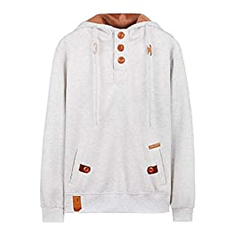 Men's Fall Winter Hood Drawstring Plus-Size with Pockets Hoodie
