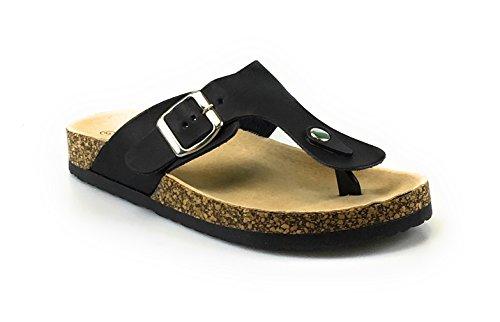 Per Sempre Link Birken 12 Donna Casual Fibbia Infradito Sandali Con Cinturino Infradito Per Le Scarpe Da Pedana (grande Vendita) Nero
