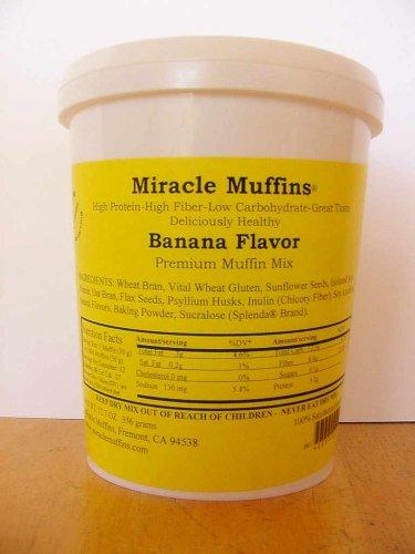 Banana Muffin Mini (Miracle Muffins Mix - Banana - Make 12/36 muffins - Xylitol)