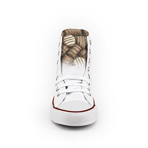 Converse All Star Personnalisé et Imprimés - chaussures à la main - produit Italien - Chocolates