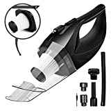 Wireless Car Vacuum Cleaner DC 12V 120W Wet Dry Auto Dustbuster Portable Handheld Auto Vacuum Cleaner for Car 3800Pa Suction Car Hoover with HEAP Filter&5Meters LED Light Car & Home Cleaner (Black)