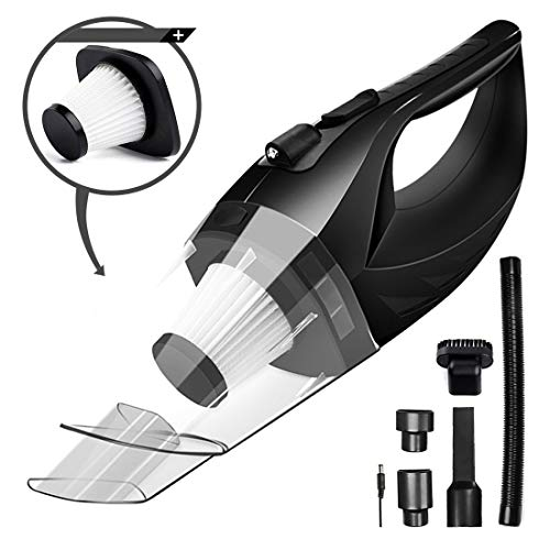 Cordless Car Vacuum Cleaner DC 12V 120W Wet Dry Auto Dustbuster Portable Handheld Auto Vacuum Cleaner for Car 3800Pa Suction Car Hoover with HEAP Filter&5Meters LED Light Car & Home ()