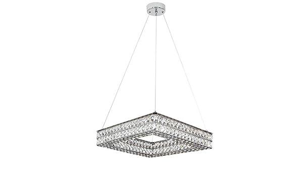 TODOLAMPARA - LAMPARA COLGANTE LED 60W-4000K CROMO/CRISTAL: Amazon ...