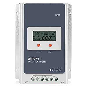 Flexzion Solar Charger Controller 20A MPPT Tracer - Solar Panel Battery Regulator Tracer 2210A 12V 24V Smart Overloading, Short-circuit Safe Protection, LCD Display