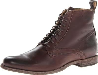 Frye Men's Phillip Lace Up BootDark Brown9.5 M US