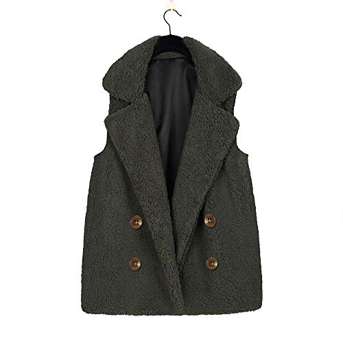 Up for Coat Sleeveless Clerance Vest Green Warm Coat Zip Hooded Cardigan Lady Sunday77 Cover Warm Winter Women's Up Sherpa Zqaxwn8qHB