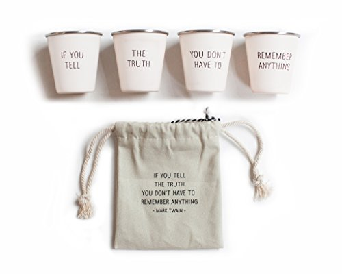 Izola Stainless Steel Cool Shot Glass Set with Canvas Travel
