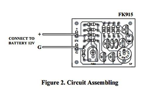 sensor de alarma del coche omega 12vdc kit electrico fa915