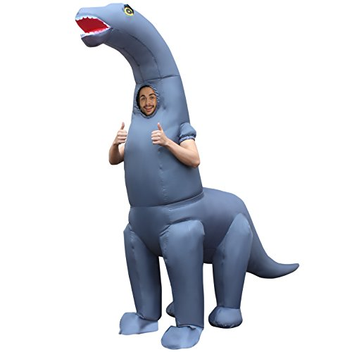 Morph Men's Jurassic Inflatable Dinosaur Diplodocus Costume, Adults, One Size -