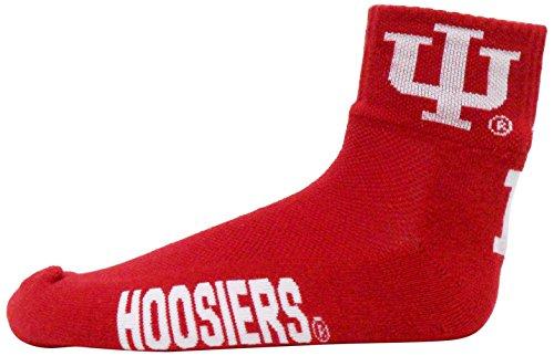 NCAA Indiana Hoosiers Quarter Socks, One Size, Red