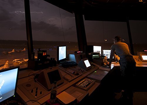 Home Comforts Laminated Poster A 19th Operations Support Squadron air Traffic Controller Watches as a Storm approaches Little Rock -