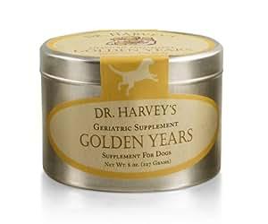 Dr. Harvey's Golden Years Herbal Supplement for Senior Dogs, 8-Ounce Tin