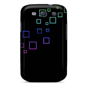 Fashion Tpu Case For Galaxy S3- Squares Defender Case Cover