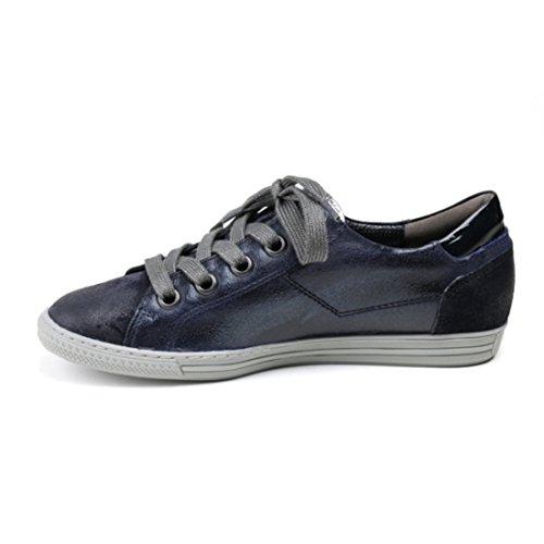 Sneaker Paul Green Nubuk Leder Blau