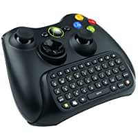 VersionTech Wireless Text Messenger Game Gaming Controller Keyboard Chatpad Keypad For Xbox 360-Black