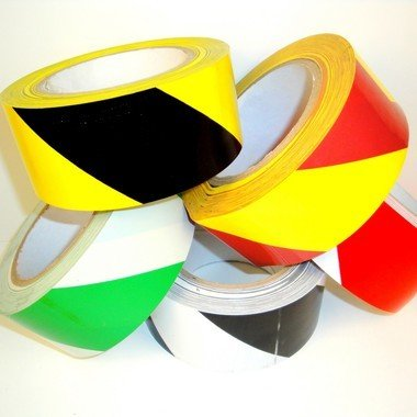 Striped Safety Warning Tape (66X40) (2'' (48mm), Red-White, 36yds, 7 mil)