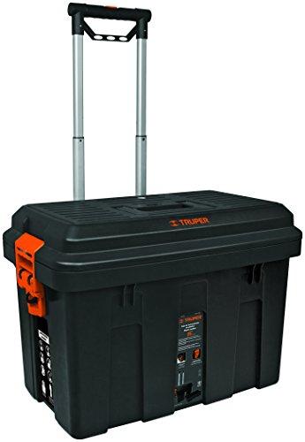 Truper CHP-25R, Caja para herramienta 25', con ruedas y mango telescóp