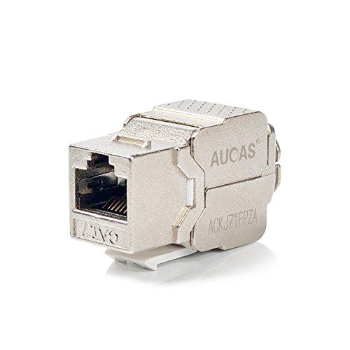 Cat7 RJ45 FTP Tool-Less Type Zinc Alloy Module Shielded Keystone Jack Adapter 10 Gigabit Modular Jack (20 pcs/Pack)