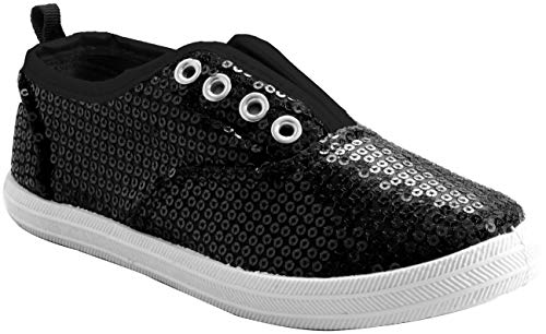 Chillipop Slip-On Laceless Fashion Sneakers for Girls, Boys, Toddlers & Kids Black -