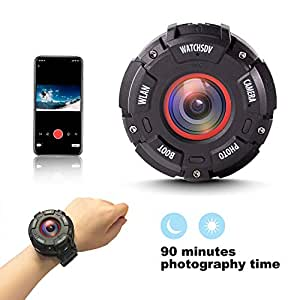 Mini Sport Camera Wireless,Portable Waterproof Spy Camera,1080P Cams with Cell Phone App Luminous Shooting for Home Indoor Outdoor Riding Hiking Camping Surfing