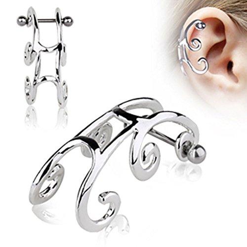 6mm Titanium Earrings Ball (316L Surgical Steel Sleigh Cartilage Earring)