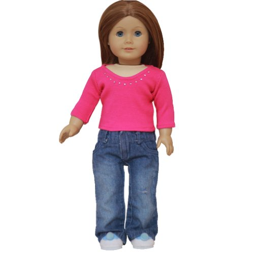 AGD Palace Outfit - Blue Jeans and Hot Pink Top