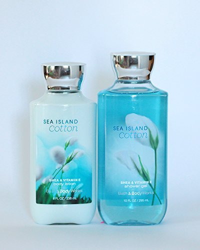 Bath and Body Works Sea Island Cotton Gift Set of Shower Gel and Body Lotion