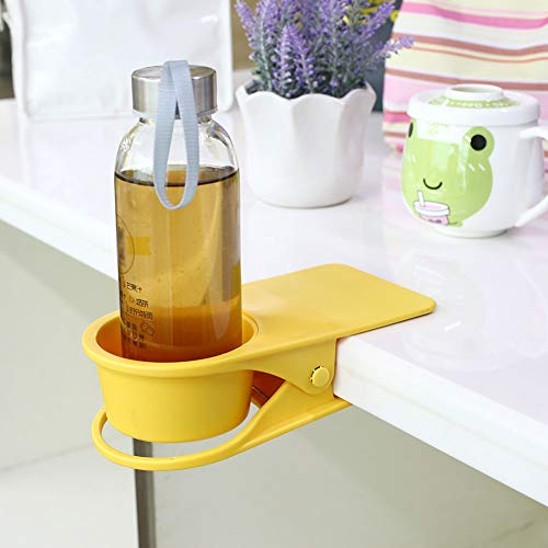 Supercope Drinking Cup Holder Clip- Chair Table Bottle Cup Stand The DIY Glass Clamp Storage Saucer Clip Water Coffee Mug Holder Saucer Clip Design Home & Office,Yellow (Tables Chairs Glass)