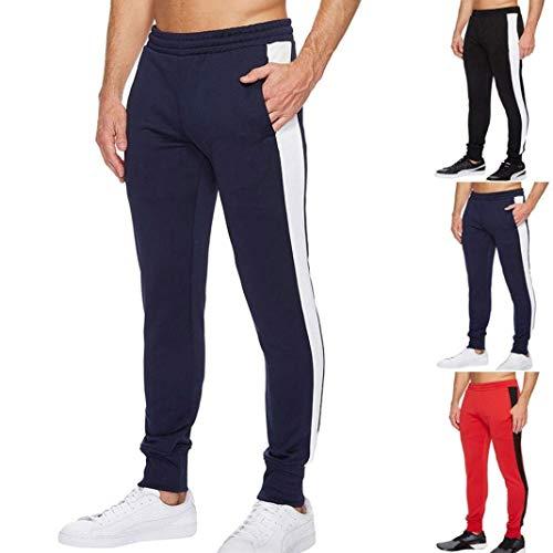 Uomo Moda Da Per Larghi Tempo Navy Estivi Con Fitness Coulisse Libero Sportivi Pantaloni Il Jogging qfT54ZwwE