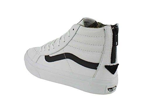 Vans Sk8-hi Scarpe Da Skate Casual Unisex Casual, Confortevoli E Resistenti In Esclusiva Suola In Gomma Waffle Bianca / Nera