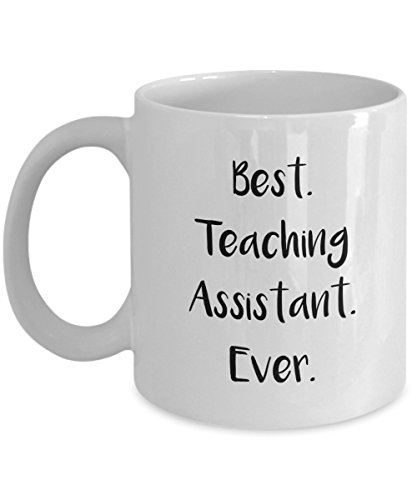 Teaching Assistant Gifts - Best Teaching Assistant Ever Mug - Funny Tea Hot Cocoa Coffee Cup - Novelty Birthday Christmas Anniversary Gag Gifts Idea