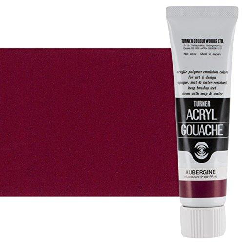 Turner Colour Works Acryl Gouache Artist Acrylic Paint - Single 40 ml Tube - Aubergine