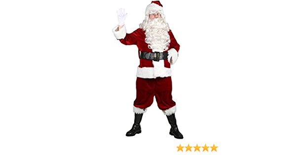 Size 50-56 jacket up to 56 waist Halco 6596 Velveteen Santa Claus Suit