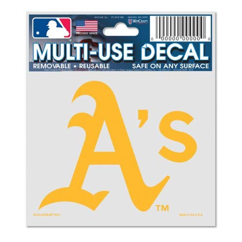 (WinCraft MLB Oakland A's 84476010 Multi-Use Decal, 3