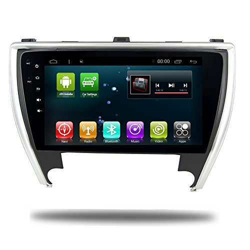 Head Unit Car GPS Navi Android 7.1 for Toyota Camry 2017 Stereo Car Radio Head Device RDS Video Player with Bluetooth Wifi Navigation Map (Android7.1 2+32G for Camry)