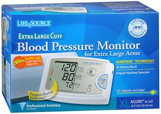 LifeSource Blood Pressure Monitor for Extra Large Arms - Each, Pack of 6