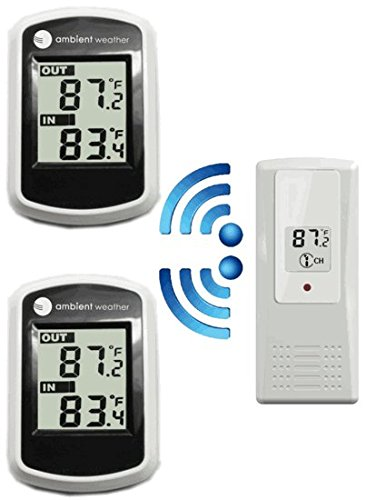 Ambient Weather WS-40-2 Dual Zone Wireless Thermometer with