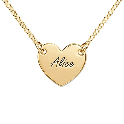 Name Necklace Customized Engraved Heart Necklace Pendant Names Christmas gift Valentines Gift