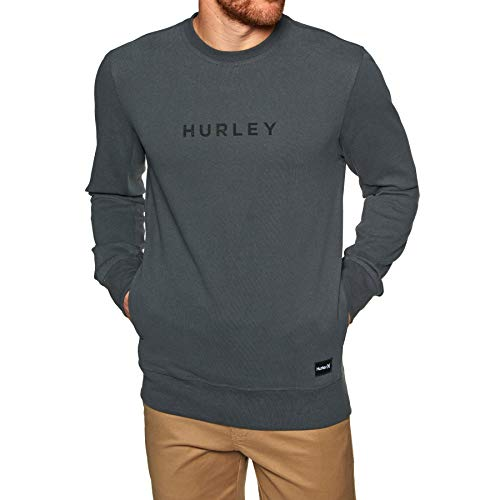 Hurley Men's AJ2214 Atlas Boxed Crew Sweater, Anthracite - X-Large ()