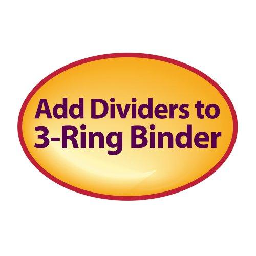 Smead Three-Ring Binder Index Dividers, 1/5-Cut Tabs